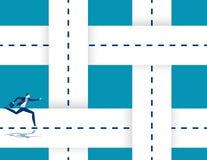 Τρέχοντας συνδυάζοντας δρόμοι επιχειρηματιών Απεικόνιση επιχειρησιακής επιτυχίας έννοιας Διανυσματικοί χαρακτήρας κινουμένων σχεδ ελεύθερη απεικόνιση δικαιώματος
