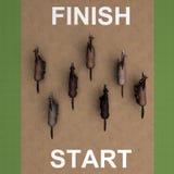 Τρέχοντας τρισδιάστατη απόδοση τοπ άποψης αλόγων Στοκ εικόνες με δικαίωμα ελεύθερης χρήσης