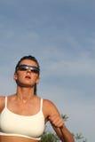 τρέχοντας φίλαθλη γυναίκα Στοκ Εικόνα