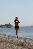 τρέχοντας φίλαθλη γυναίκα Στοκ εικόνες με δικαίωμα ελεύθερης χρήσης