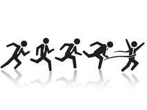 Τρέχοντας φυλή επιχειρηματιών απεικόνιση αποθεμάτων