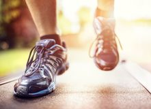 τρέχοντας treadmill Στοκ φωτογραφίες με δικαίωμα ελεύθερης χρήσης