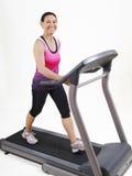 τρέχοντας treadmill Στοκ εικόνα με δικαίωμα ελεύθερης χρήσης