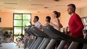 τρέχοντας treadmill απόθεμα βίντεο
