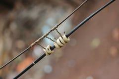 Τρέχον βολτ ηλεκτρικής ενέργειας καλωδίων ηλεκτρικό Στοκ εικόνες με δικαίωμα ελεύθερης χρήσης