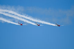 Τρία αεροπλάνα Στοκ Εικόνα