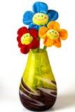 Τρία από τα τεχνητά λουλούδια Στοκ εικόνα με δικαίωμα ελεύθερης χρήσης