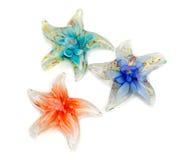 Τρία αστέρια από το γυαλί Murano Στοκ εικόνα με δικαίωμα ελεύθερης χρήσης