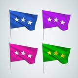 Τρία αστέρια - διανυσματικές σημαίες Στοκ εικόνα με δικαίωμα ελεύθερης χρήσης
