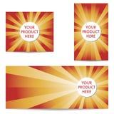 Τρία αφηρημένα εμβλήματα προϊόντων Στοκ εικόνες με δικαίωμα ελεύθερης χρήσης