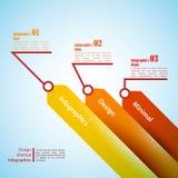 Τρία βέλη, χρήση για το infographics Μπορέστε να χρησιμοποιηθείτε για την παρουσίαση Στοκ εικόνα με δικαίωμα ελεύθερης χρήσης