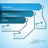 Τρία βέλη, χρήση για το infographics Στοκ φωτογραφία με δικαίωμα ελεύθερης χρήσης