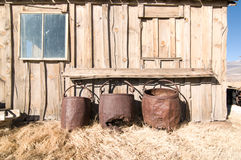 Τρία βαρέλια σιδήρου Στοκ Εικόνες