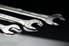 Τρία γαλλικά κλειδιά ως σύμβολο για την ομαδική εργασία στις επιχειρηματικές μονάδες Στοκ Εικόνες