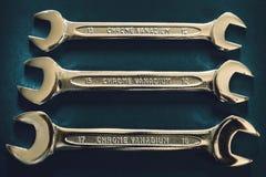 τρία γαλλικά κλειδιά Στοκ Εικόνες