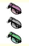 Τρία γυαλιά ηλίου Στοκ Φωτογραφία