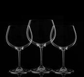 Τρία γυαλιά κρασιού Στοκ εικόνα με δικαίωμα ελεύθερης χρήσης
