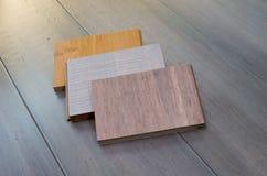 Τρία δείγματα δαπέδων μπαμπού Στοκ εικόνα με δικαίωμα ελεύθερης χρήσης