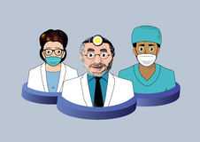 Τρία εικονίδια οδοντιάτρων Στοκ φωτογραφία με δικαίωμα ελεύθερης χρήσης
