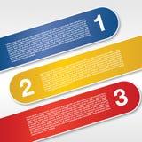 Τρία εμβλήματα ετικετών. Στοκ φωτογραφία με δικαίωμα ελεύθερης χρήσης