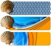 Τρία εμβλήματα διακοπών θάλασσας - N6 Στοκ Εικόνα