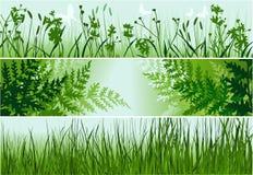 Τρία εμβλήματα φύσης απεικόνιση αποθεμάτων