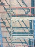 Τρία επίπεδα υλικών σκαλωσιάς Στοκ εικόνα με δικαίωμα ελεύθερης χρήσης