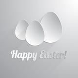 Τρία ευτυχή αυγά Πάσχας εγγράφου ελεύθερη απεικόνιση δικαιώματος