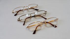 Τρία ζευγάρια των γυαλιών Στοκ εικόνα με δικαίωμα ελεύθερης χρήσης