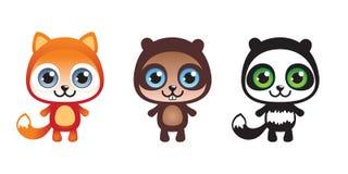 τρία ζώα που τίθενται Στοκ Εικόνα