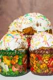 Τρία κέικ Πάσχας Στοκ εικόνες με δικαίωμα ελεύθερης χρήσης