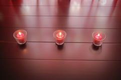 Τρία κεριά Στοκ εικόνες με δικαίωμα ελεύθερης χρήσης