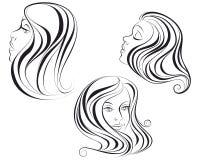 Τρία κεφάλια του κοριτσιού Απεικόνιση αποθεμάτων