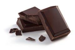 Τρία κομμάτια της σοκολάτας Στοκ Εικόνα
