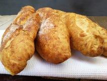 Τρία κομμάτια του γλυκού ψωμιού Στοκ Φωτογραφίες