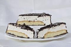 Τρία κομμάτια souffle του κέικ Στοκ φωτογραφία με δικαίωμα ελεύθερης χρήσης