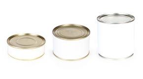 Τρία κονσερβοποιημένα τρόφιμα Στοκ Φωτογραφία