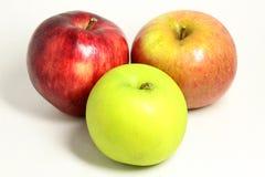 Τρία μήλα Στοκ Εικόνες