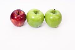 Τρία μήλα Στοκ Φωτογραφία