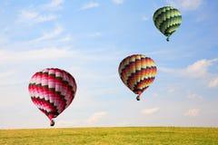 Τρία μεγάλα μπαλόνια Στοκ Φωτογραφία