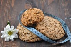 Τρία μπισκότα με τα δημητριακά Στοκ Εικόνες