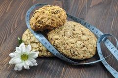 Τρία μπισκότα με τα δημητριακά Στοκ Φωτογραφία