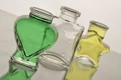 Τρία μπουκάλια Στοκ Εικόνες