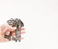 Τρία παλαιά κλειδιά Στοκ Εικόνα