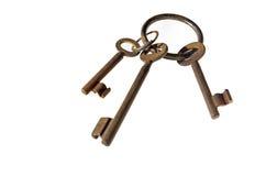 Τρία πλήκτρα στο δαχτυλίδι Στοκ εικόνα με δικαίωμα ελεύθερης χρήσης