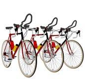 Τρία ποδήλατα στο διάνυσμα 06 φυλών γραμμών διανυσματική απεικόνιση