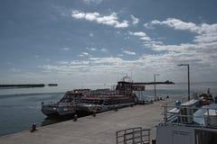 Τρία πορθμεία στο λιμάνι Holbox, Quintana Roo, Μεξικό στοκ φωτογραφίες