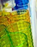 Τρία πολύχρωμα γυαλιά Στοκ εικόνες με δικαίωμα ελεύθερης χρήσης