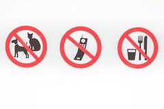Τρία σημάδια απαγόρευσης Στοκ φωτογραφία με δικαίωμα ελεύθερης χρήσης