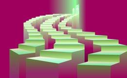 Τρία σκαλοπάτια που οδηγούν στο φως απεικόνιση αποθεμάτων